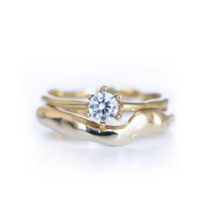 Snubní prsten My Other Half Him a prstýnek.