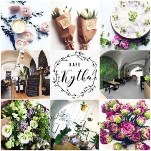 Kafe a kytka je krásné spojení kavárny a květinářství