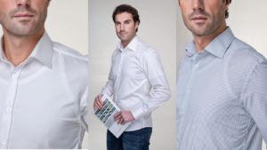 Standardní nátělníky a trika se pod košilí rýsují a nevypadají hezky.